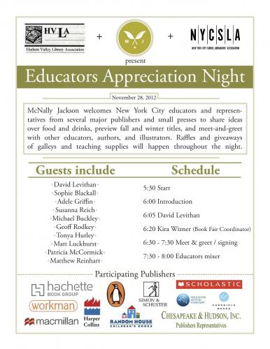 Educators Appreciation Night