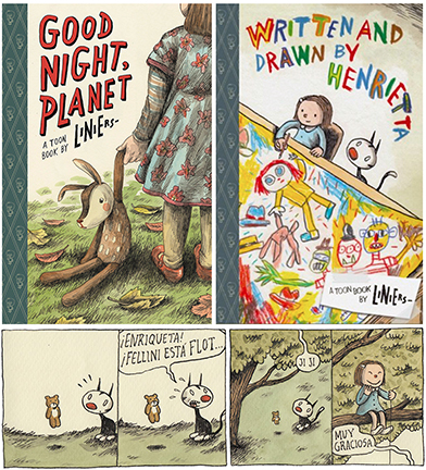 Liniers Book Covers and Macanudo